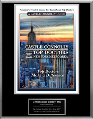Dr. Barley Named A Castle Connolly Top Doctor For 2017