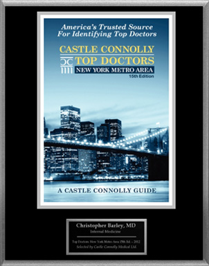 Dr. Barley Featured On Castle Connolly's List Of 2012 Top NY Doctors