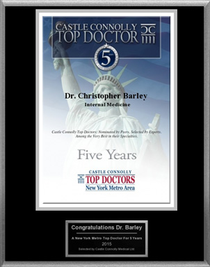 Dr. Barley Named A Castle Connolly Top Doctor For 5 Years