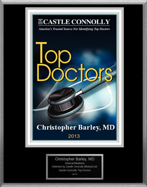Christopher Barley, MD Named A 2013 Castle Connolly Top Doctor